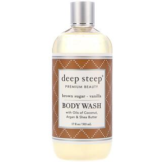 Deep Steep, 바디 워시, 브라운 슈가 - 바닐라, 17 fl oz (503 ml)