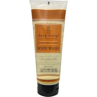 Deep Steep, Body Wash, Brown Sugar - Vanilla, 8 fl oz (237 ml)
