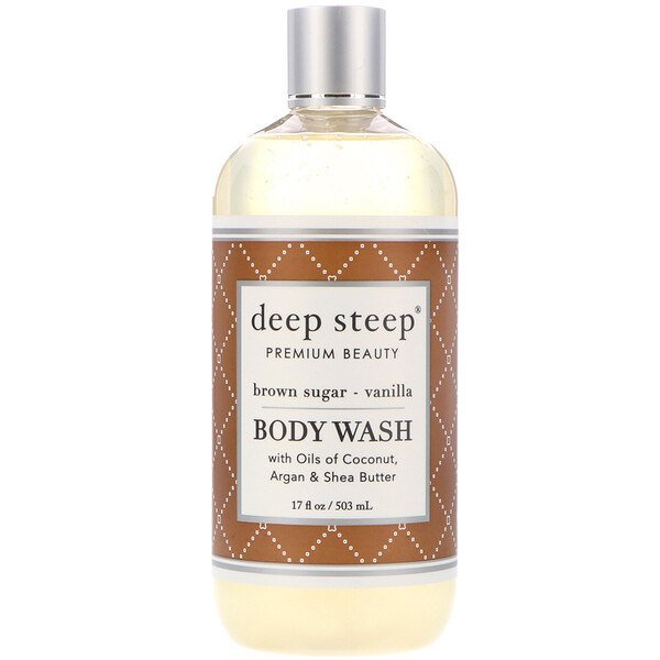 Deep Steep, Body Wash, Brown Sugar - Vanilla, 17 fl oz (503 ml)