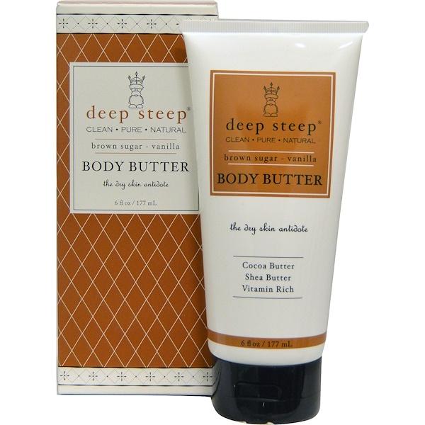 Deep Steep, Body Butter, Brown Sugar-Vanilla, 8 fl oz (237 ml) (Discontinued Item)