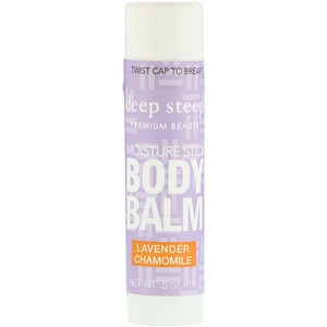 Дип Стип, Deep Steep, Moisture Stick Body Balm, Lavender Chamomile, .5 oz (15 g) отзывы покупателей