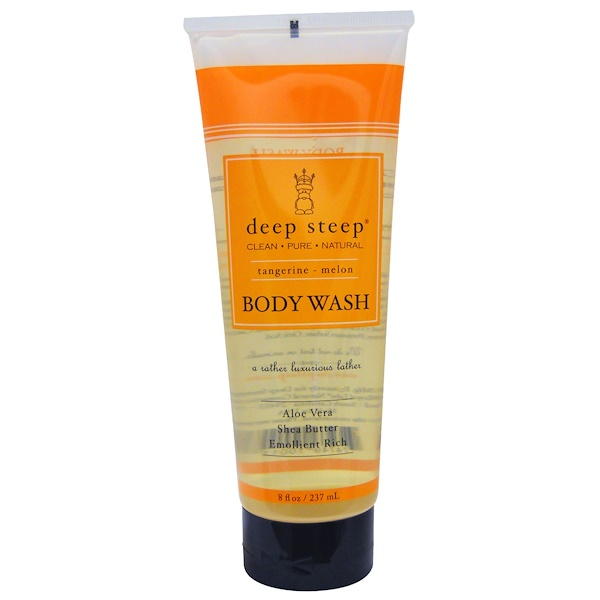 Deep Steep, Body Wash, Tangerine - Melon, 8 fl oz (237 ml) (Discontinued Item)
