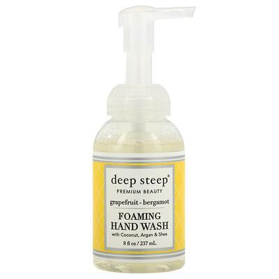 Deep Steep Пенящееся мыло, грейпфрут и бергамот, 8 жидких унций (237 мл)  - купить со скидкой