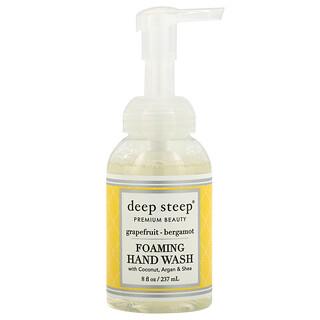 Deep Steep, Foaming Hand Wash with Coconut, Argan & Shea, Grapefruit-Bergamot, 8 fl oz (237ml)