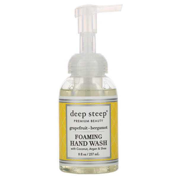 Deep Steep, Foaming Hand Wash, Grapefruit-Bergamot, 8 fl oz (237ml)