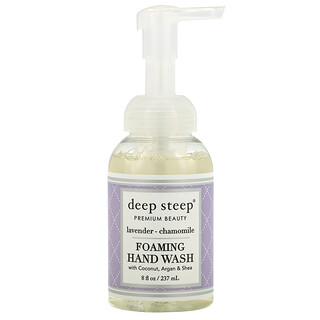 Deep Steep, Foaming Hand Wash with Coconut, Argan & Shea, Lavender-Chamomile, 8 fl oz (237 ml)