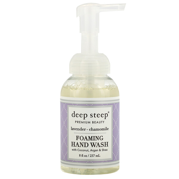 Deep Steep, Foaming Hand Wash, Lavender - Chamomile, 8 fl oz (237 ml)