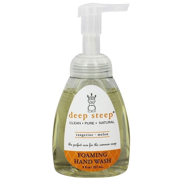 Deep Steep, Foaming Hand Wash, Tangerine - Melon, 8 fl oz (237 ml) (Discontinued Item)