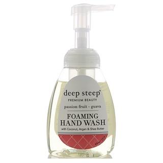 Deep Steep, Пенящееся средство для мытья рук, маракуйя и гуава, 237 мл