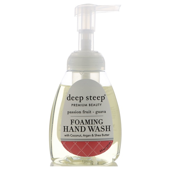 Deep Steep, Foaming Hand Wash, Passion Fruit Guava, 8 fl oz (237 ml) (Discontinued Item)