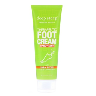 Deep Steep, Therapeutic Foot Cream, Candy Mint, 8 fl oz (237 ml)