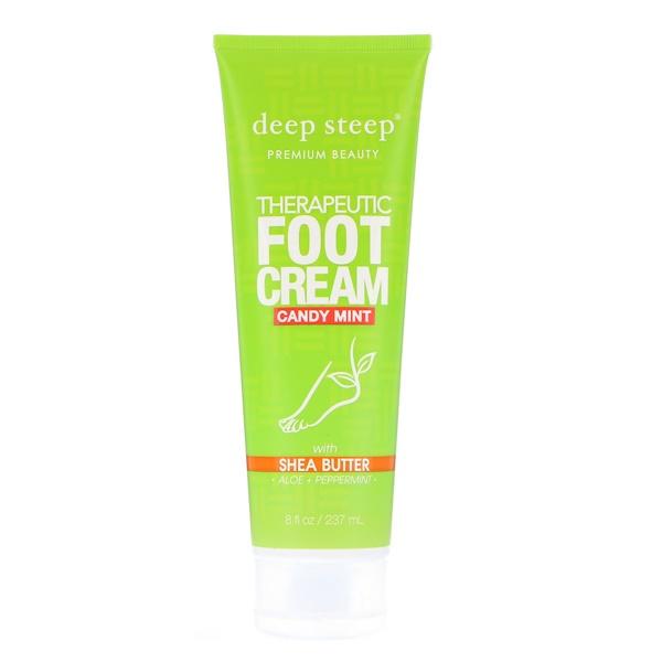 Deep Steep, Crème thérapeutique pour les pieds, Menthe de bonbon, 237 ml (8 fl oz)