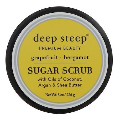 Купить Deep Steep Сахарный скраб, грейпфрут и бергамот, 8 унций (226 г)