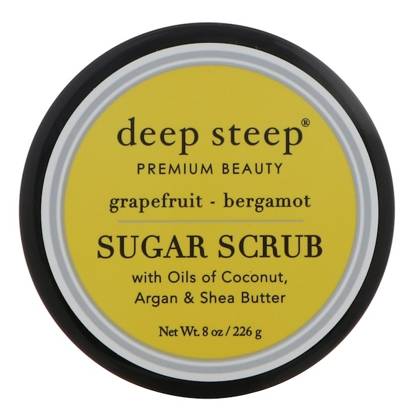 Deep Steep, Exfoliant de Sucre, Lavande - Bergamote, 8 oz (226 g)