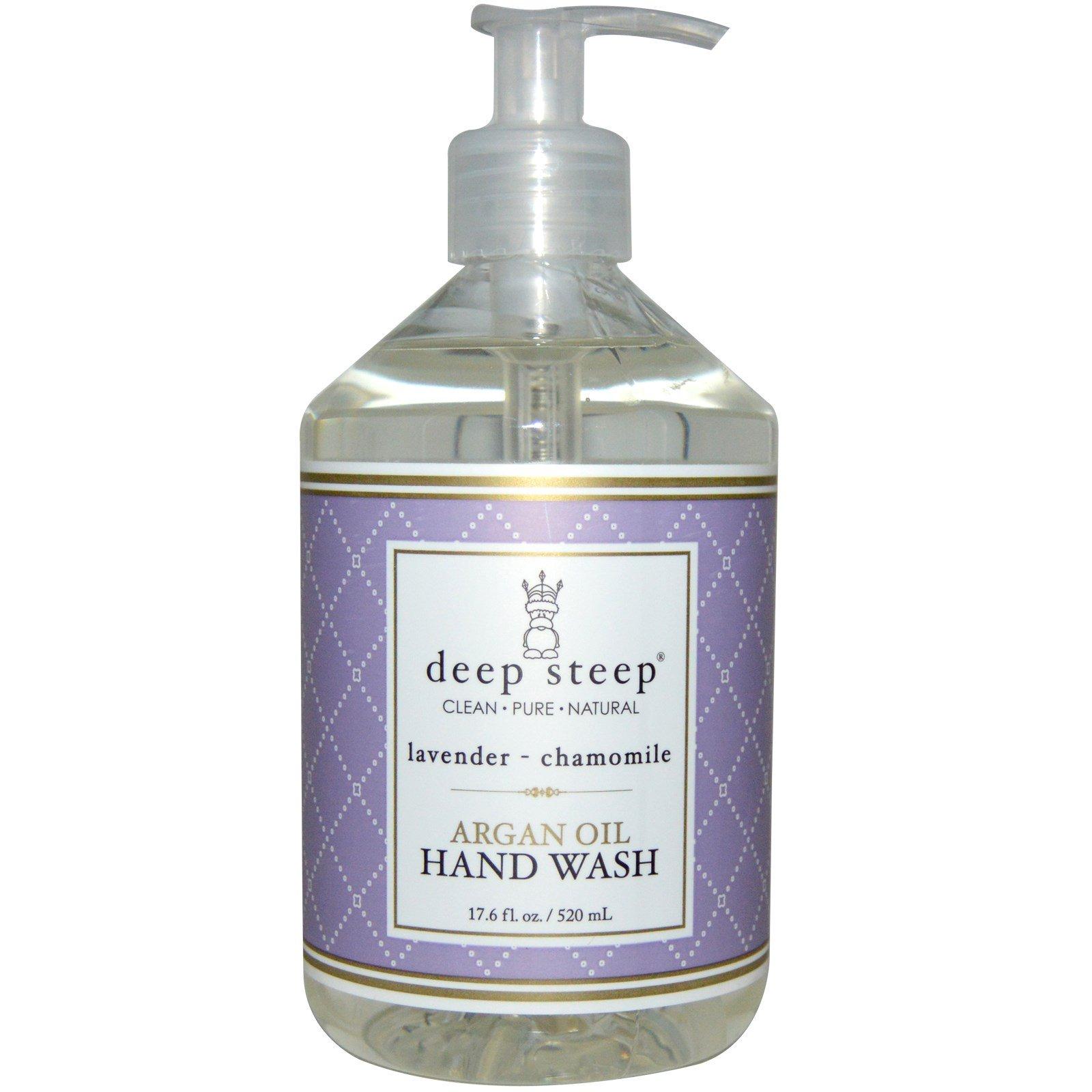 Deep Steep, Средство для мытья рук с аргановым маслом, лаванда и ромашка, 17.6 жидких унций (520 мл)