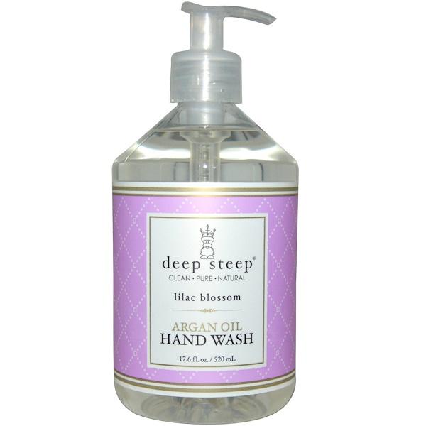 Deep Steep, Argan Oil Hand Wash, Lilac Blossom, 17.6 fl oz (520 ml)