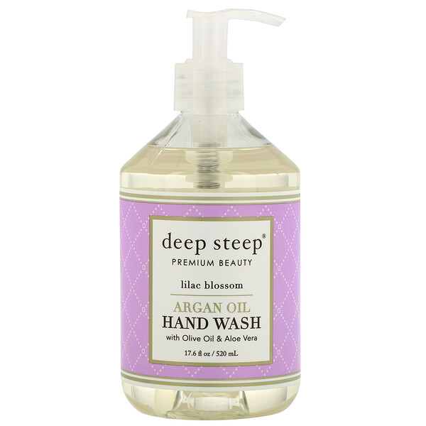 Argan Oil Hand Wash, Lilac Blossom, 17.6 fl oz (520 ml)