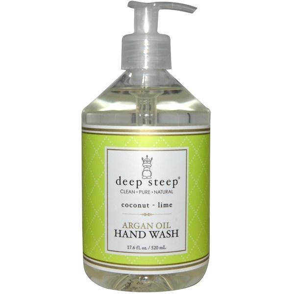 Deep Steep, Argan Oil Hand Wash, Coconut - Lime, 17.6 fl oz (520 ml) (Discontinued Item)