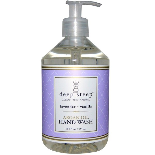 Deep Steep, Argan Oil Hand Wash, Lavender- Vanilla, 17、6 fl oz (520 ml)