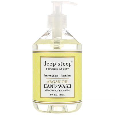 Купить Deep Steep Средство для мытья рук с аргановым маслом, Лимонник — Жасмин, 17, 6 жидких унций (520 мл)