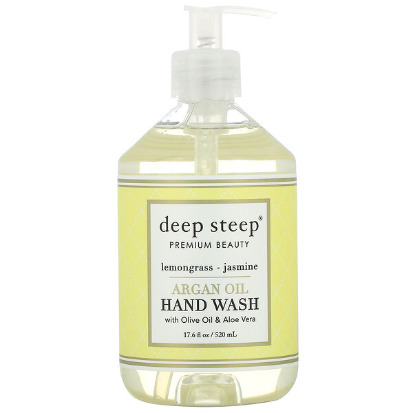 Argan Oil Hand Wash, Lemongrass-Jasmine, 17.6 fl oz (520 ml)
