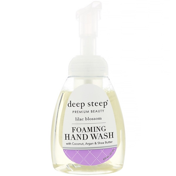 Deep Steep, Foaming Hand Wash, Lilac Blossom, 8 fl oz (237 ml)