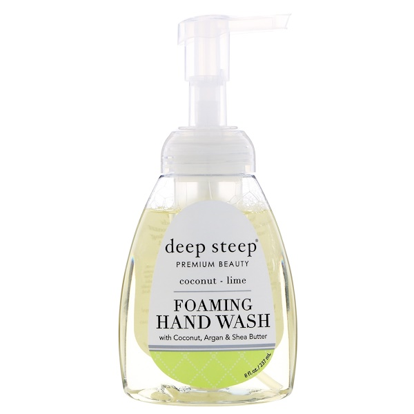 Deep Steep, Foaming Hand Wash, Coconut - Lime, 8 fl oz (237 ml) (Discontinued Item)