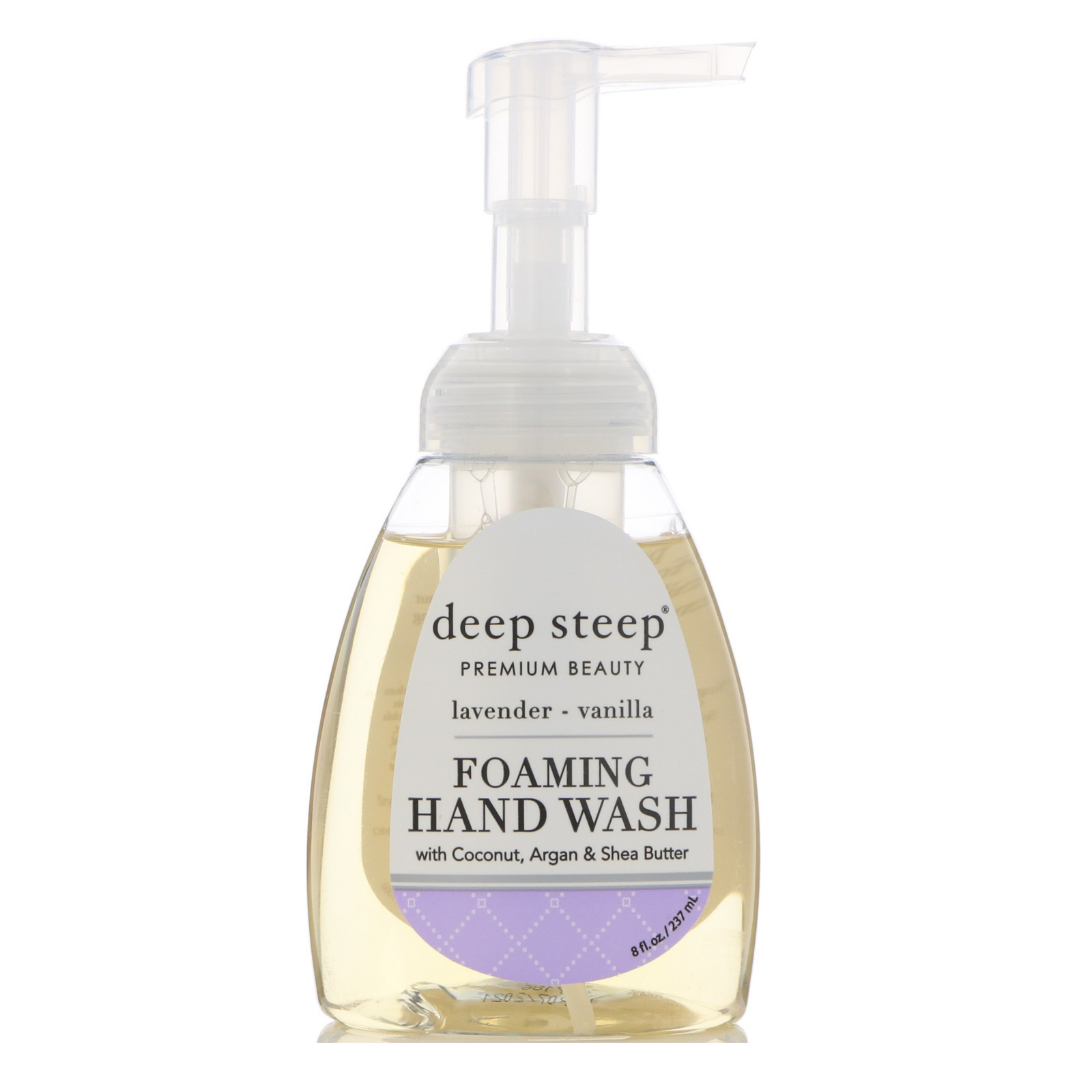 Deep Steep, Foaming Hand Wash, Lavender - Vanilla, 8 fl oz (237 ml)