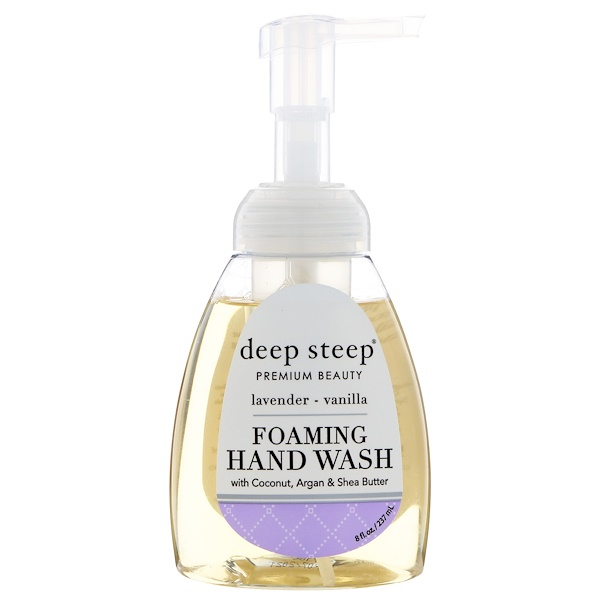 Deep Steep, Foaming Hand Wash, Lavender - Vanilla, 8 fl oz (237 ml) (Discontinued Item)