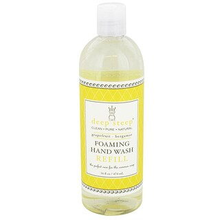 Deep Steep, Foaming Hand Wash Refill, Grapefruit - Bergamot, 16 fl oz (474 ml)