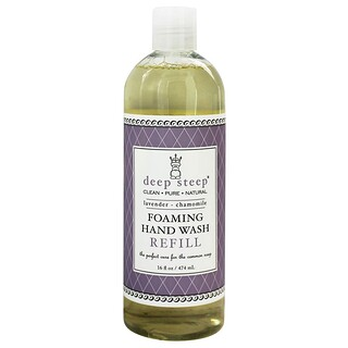 Deep Steep, Foaming Hand Wash, Refill, Lavender - Chamomile, 16 fl oz (474 ml)