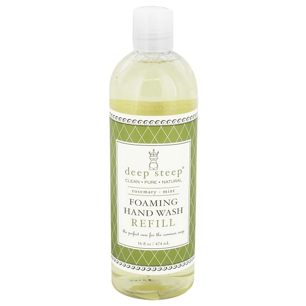 Deep Steep, Foaming Hand Wash, Refill, Rosemary - Mint, 16 fl oz (474 ml) (Discontinued Item)