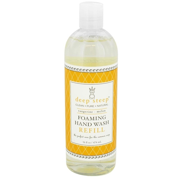 Deep Steep, Пенящееся средство для мытья рук, сменная упаковка, мандарин-дыня, 16 жидких унций (474 мл) (Discontinued Item)