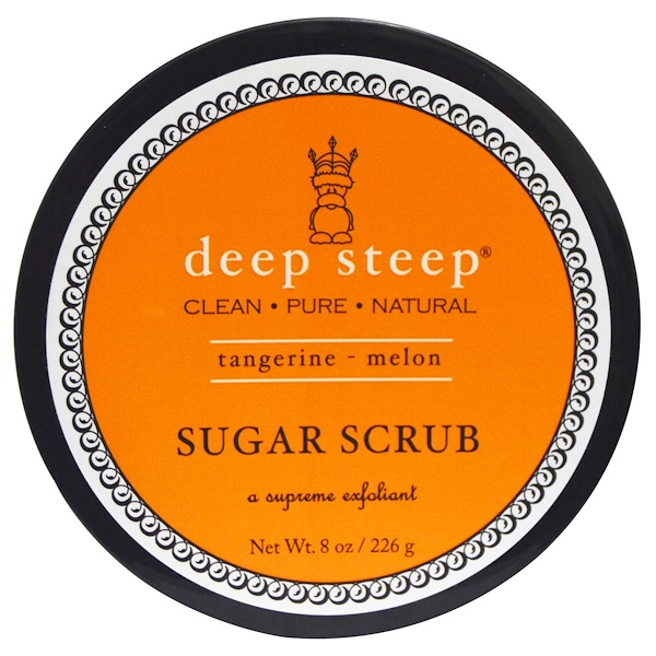 Deep Steep, Sugar Scrub, Tangerine - Melon, 8 oz (226 g) (Discontinued Item)