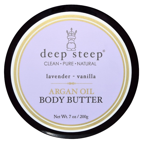 Deep Steep, Argan Oil Body Butter, Lavender - Vanilla, 7 oz (Discontinued Item)