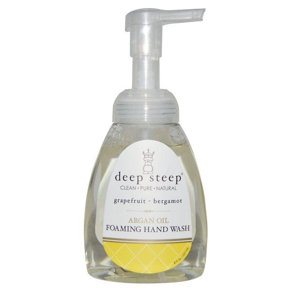 Deep Steep, Argan Oil Foaming Hand Wash, Grapefruit - Bergamot, 8 fl oz. (237 ml) (Discontinued Item)