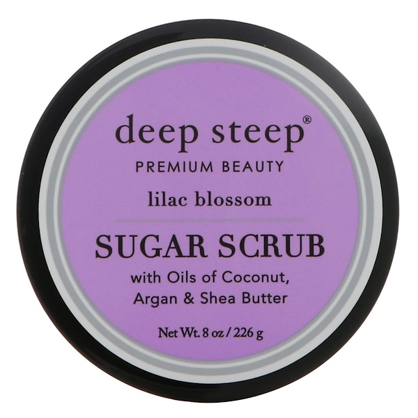 Deep Steep, Sugar Scrub, Lilac Blossom, 8 oz (226 g) (Discontinued Item)