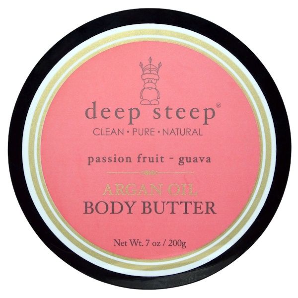 Deep Steep, Argan Oil Body Butter, Passion Fruit Guava, 7 oz (200 g) (Discontinued Item)