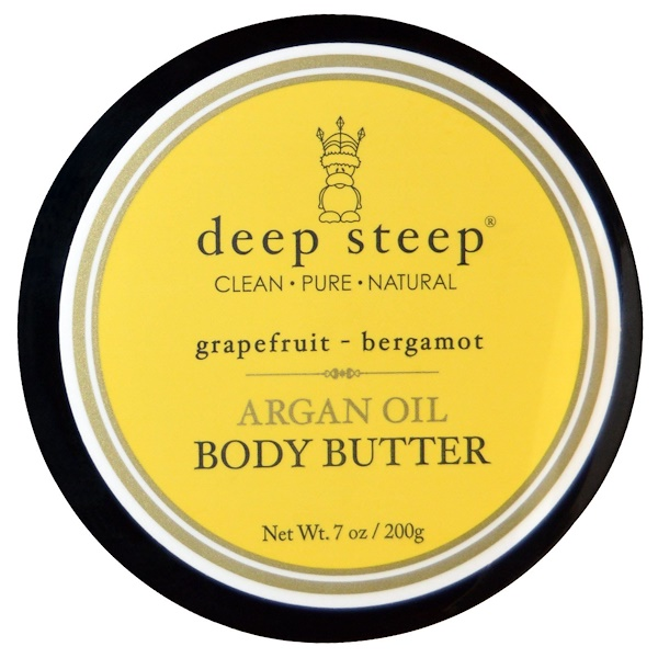 Deep Steep, Argan Oil Body Butter, Grapefruit Bergamot, 7 oz (200 g) (Discontinued Item)