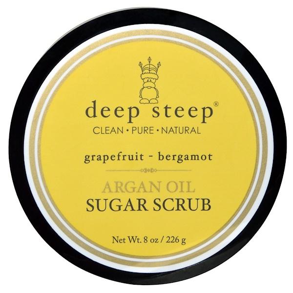 Deep Steep, Argan Oil Sugar Scrub, Grapefruit Bergamot, 8 oz (226 g) (Discontinued Item)