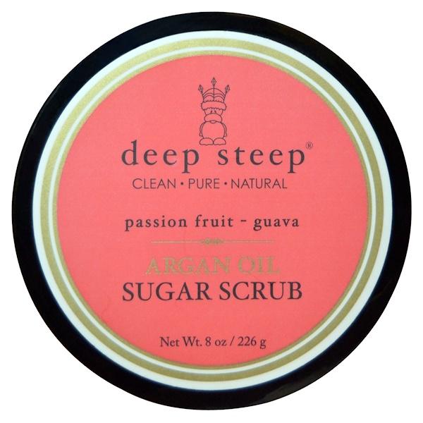 Deep Steep, Argan Oil Sugar Scrub, Passion Fruit Guava, 8 oz (226 g) (Discontinued Item)