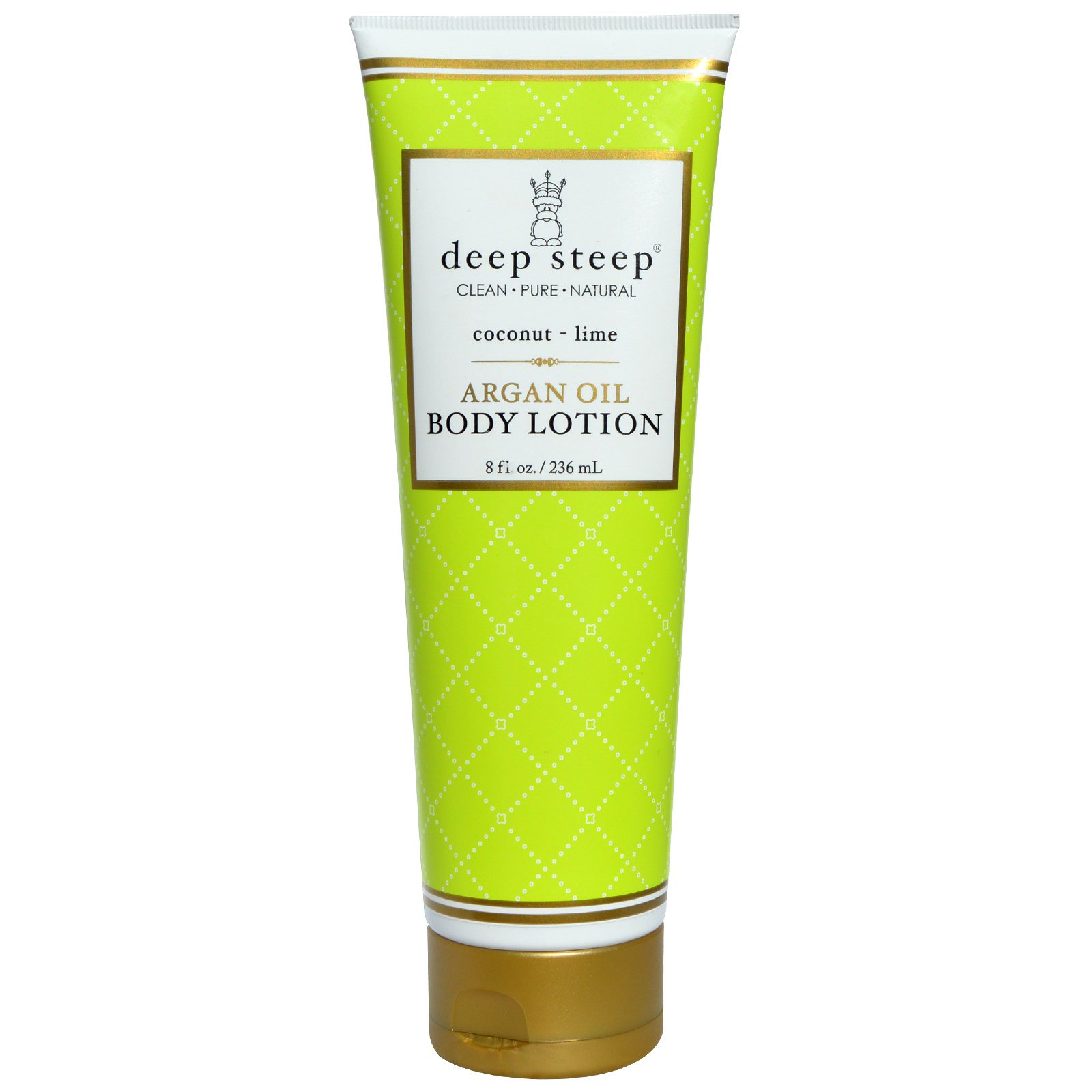 Deep Steep, Argan Oil Body Lotion, Coconut - Lime, 8 fl oz (236 ml)