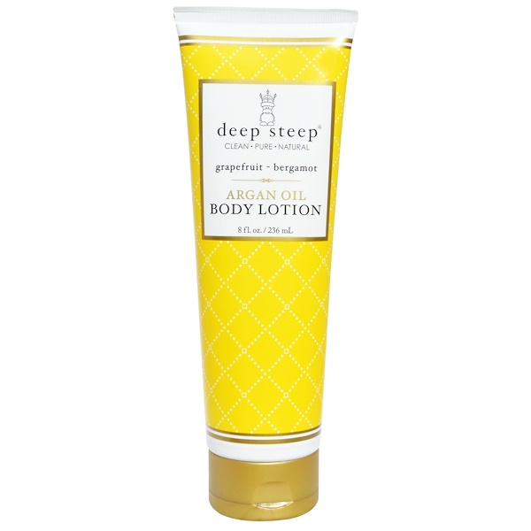 Deep Steep, Argan Oil Body Lotion, Grapefruit - Bergamot, 8 fl oz (236 ml)