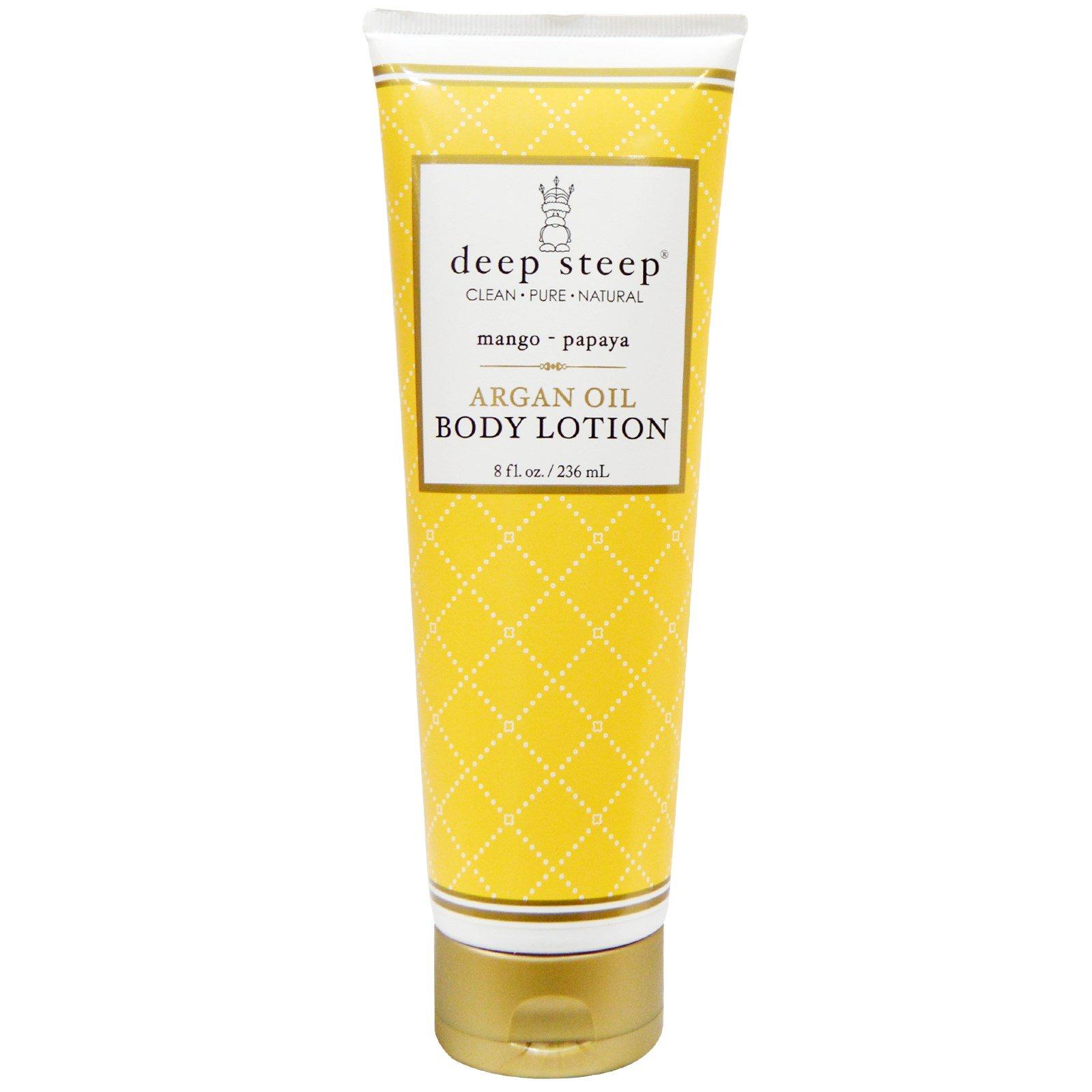 Deep Steep, Лосьон для тела с аргановым маслом, манго - папайя, 8 унций (236 мл)