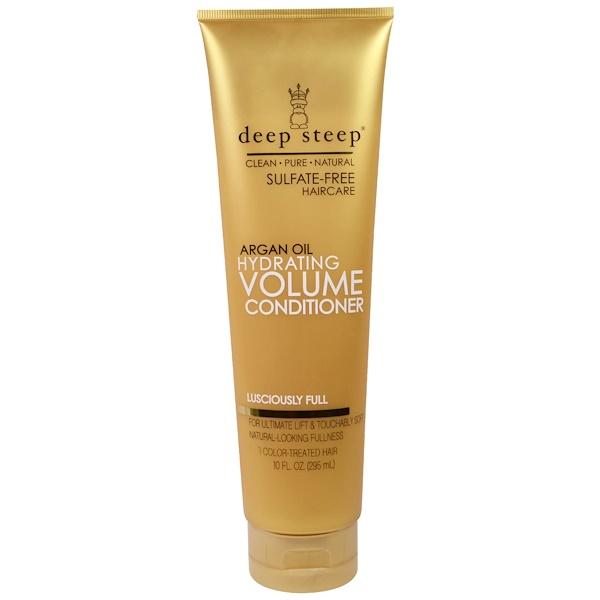 Deep Steep, Argan Oil, Hydrating Volume Conditioner, Lusciously Full, 10 fl oz (295 ml)