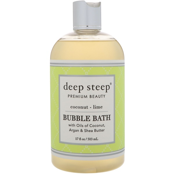 Deep Steep, Bubble Bath, Coconut Lime, 17 fl oz (503 ml) (Discontinued Item)