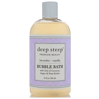 Deep Steep, Bubble Bath, Lavender - Vanilla, 17 fl oz (503 ml)