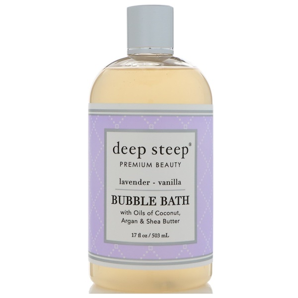 Deep Steep, Bubble Bath, Lavender Vanilla, 17 fl oz (503 ml) (Discontinued Item)