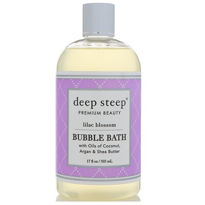 Deep Steep Bubble Bath, Lilac Blossom, 17 fl oz (503 ml)