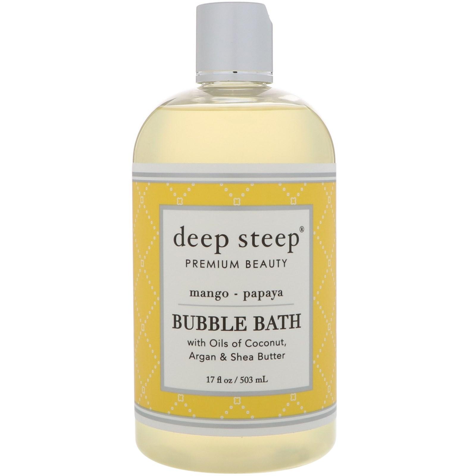 Deep Steep, Bubble Bath, Mango - Papaya, 17 fl oz (503 ml)